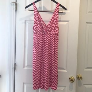 Pink chevron Old Navy tank dress